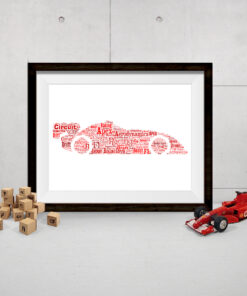 Personalised Bespoke Racing Car Word Art Print Picture
