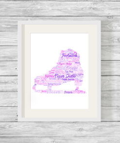 Personalised Bespoke Figure Skate Word Art Print Picture