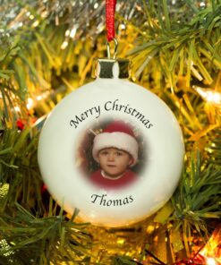 Personalised Photo Christmas Tree Bauble Decoration