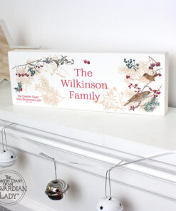 Personalised Country Diary Midwinter Mantel Block