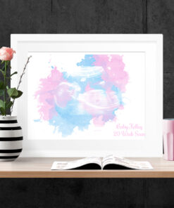 Personalised Baby Scan Watercolour Print