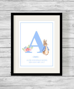 Personalised Peter Rabbit Initial Print