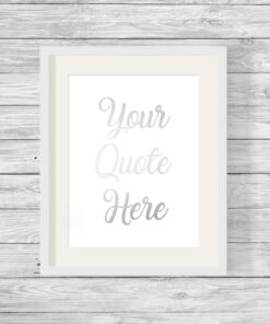 Personalised Your Quote Foil Word Art Print