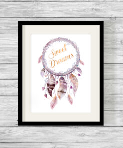 Personalised Sweet Dreams Real Foil Typography Print