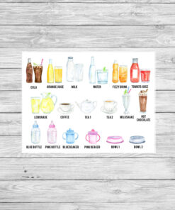 Personalised Drinks Watercolour Print