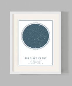Personalised Custom Night Sky Star Map Print