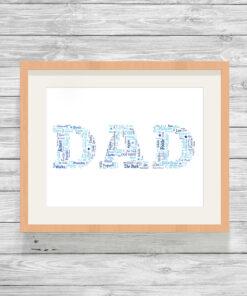 Bespoke Personalised Dad Word Art Print