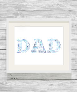 Bespoke Personalised Dad Word Art Print