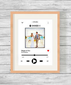 Personalised Music Song Player with Photo Word Art Print
