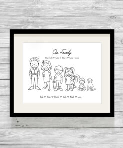 Personalised Stick Family Wall Art Print