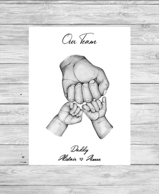 Personalised Father and Child Family Picture Print