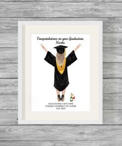 Female Graduate Personalised Word Art Print